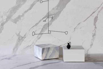 Ściany Laminam Bianco Statuario Venato