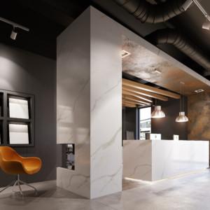 Wnętrze salonu sprzedaży firmy