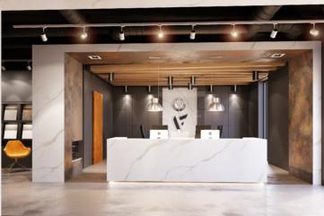 Wnętrze salonu - recepcja