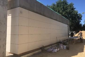 Elewacja Travertino Avorio - ściana 2
