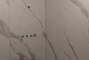 Łazienka z Bianco Statuario Venato mat