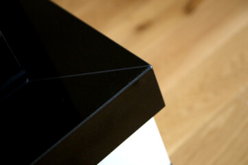 Półka kominek granit jet black