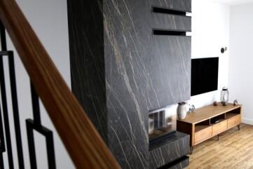 Ściana kominka spiek Noir Desir